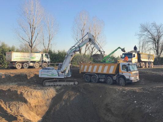 Intervento di bonifica terreni inquinati - Milano zona San Siro