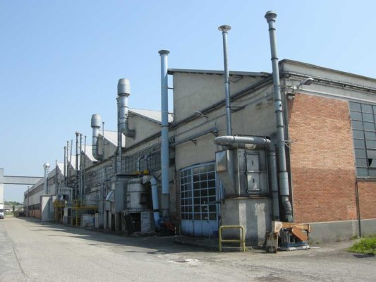 Intervento di bonifica e demolizione impianti di abbattimento polveri di toner - ex stabilimento Baltea Leini - Torino
