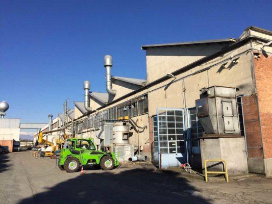 Intervento di bonifica e demolizione impianti di abbattimento polveri - stabilimento produzione di toner - ex Baltea Leini - Torino