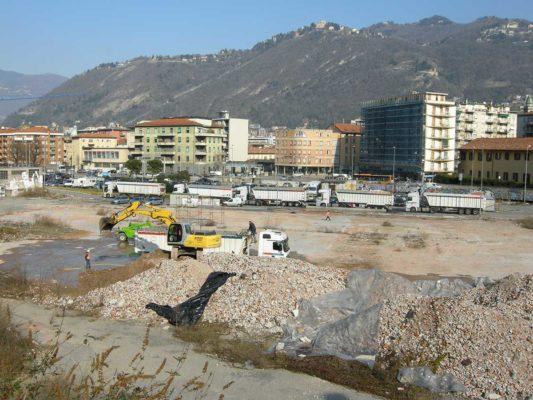 Rimozione e smaltimento di rifiuti con amianto ex stabilimento Ticosa - Como