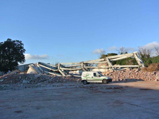 Demolizione torre piezometrica e ciminiera area ex Tintotex - Parabiago - Milano