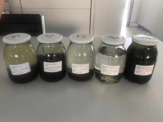 Campioni prelevati per verifica ambientale presso impianto depuratore - Besana Brianza - Monza Brianza