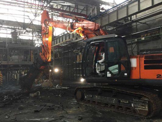 Intervento di demolizione impianti produttivi di toner - stabilimento ex Baltea Leini - Torino