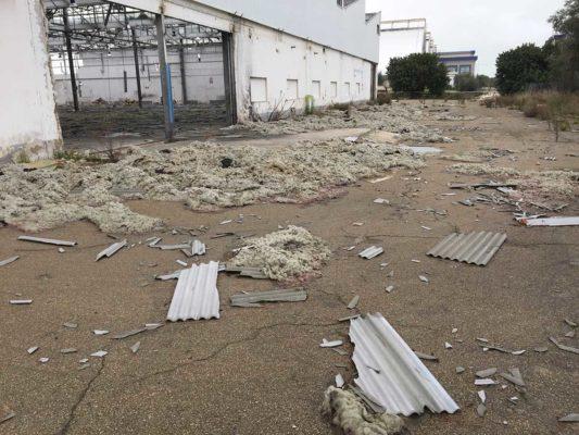 Valutazione ambientale detriti eternit e FAV (Fibre Artificiali Vetrose) a suolo - Foggia