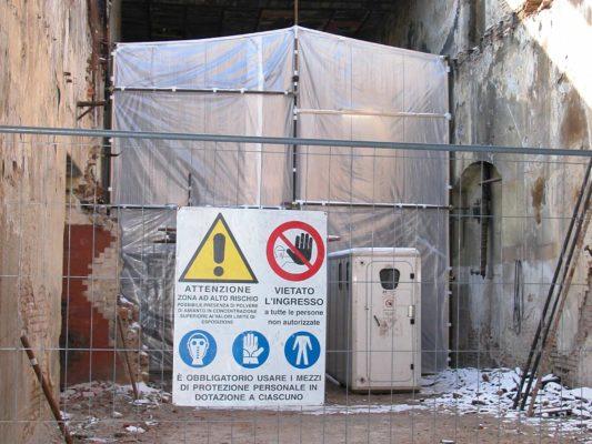 Bonifica amianto in matrice friabile - tubazioni stabilimento ex Tilane - Desio - Monza Brianza