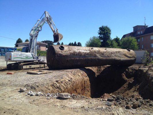 Bonifica ambientale e demolizione serbatoi interrati - Saronno - Varese
