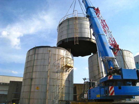 Bonifica e demolizione serbatoi ex deposito di combustibili - Milano