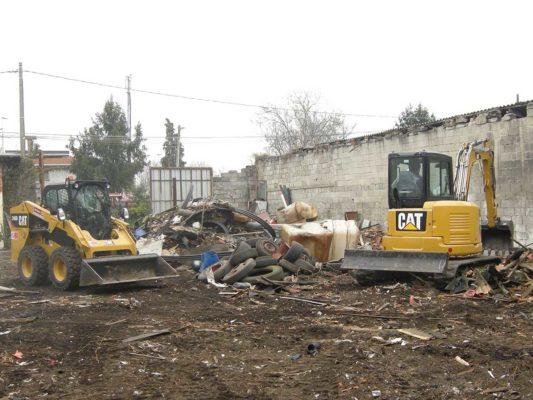 Rimozione rifiuti in discarica abusiva - zona Milano Figino