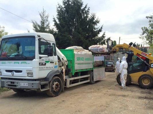 Bonifica manufatti amianto compatto presso area Figino - Milano