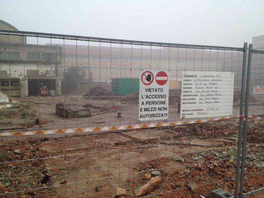 Intervento di demolizione capannoni industriali ex Burgo Group - Carbonera - Treviso