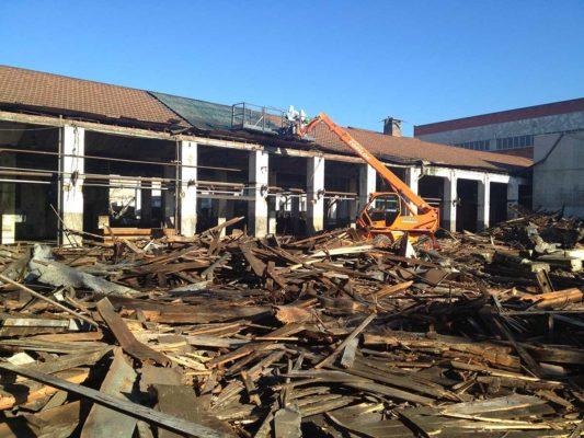 Intervento di demolizione fabbricati ex stabilimento Burgo Group - Carbonera - Treviso