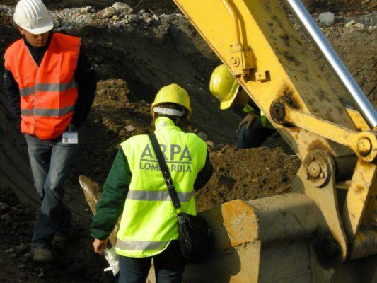 Collaudi in cantiere di bonifica terreni presso area ex BNL - Milano