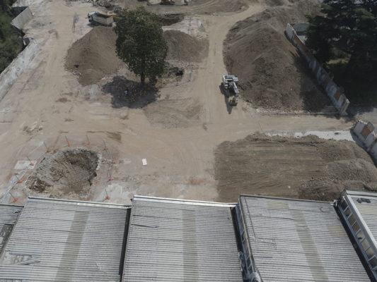 Video ispezione per monitoraggio intervento di bonifica copertura in eternit in area industriale ex Tintotex - Parabiago - Milano