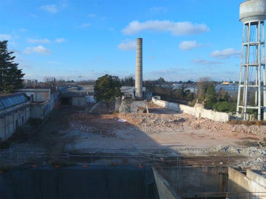 Viudeoispezione per demolizione torre piezometrica durante intervento bonifica ex Tintotex - Parabiago - Milano
