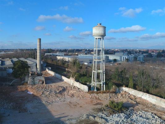 Videoispezione per demolizione torre piezometrica ex Tintotex - Parabiago - Milano