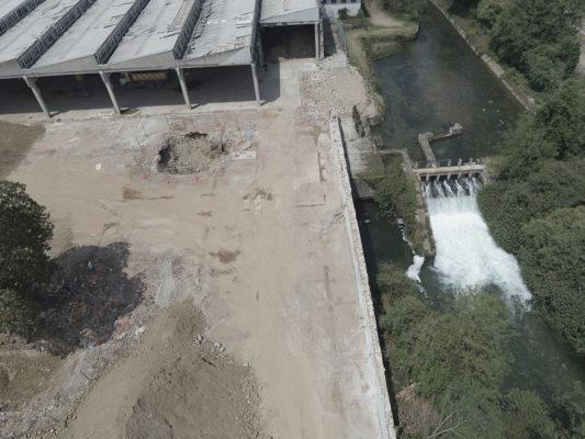 Foto aeree con drone per monitoraggio attività bonifica di area industriale ex Tintotex e Canale Villoresi - Parabiago - Milano