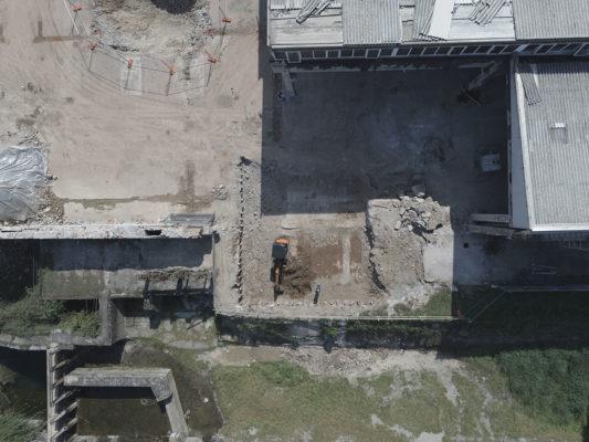 Monitoraggio con drone per intervento bonifica area industriale dismessa ex Tintotex - Parabiago - Milano