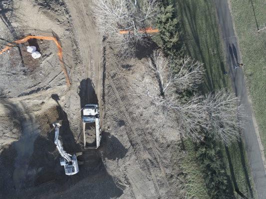 Riprese aeree con drone : indagine visiva per attività di bonifica terreni contaminati a Milano